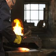 A participant at the Calnan & Anhoj forge